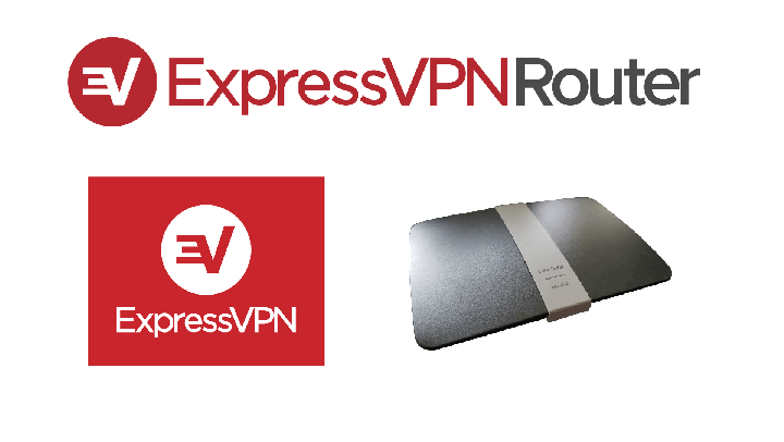 Image of the ExpressVPN logo beside a router